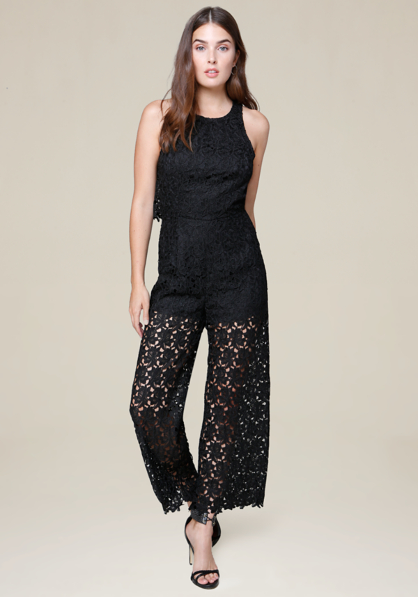 Lace Culotte Jumpsuit at bebe in Sherman Oaks, CA | Tuggl