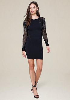Lace Crewneck Dress