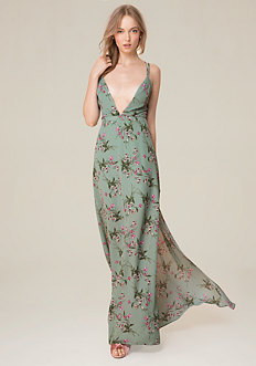 Print Crossback Gown