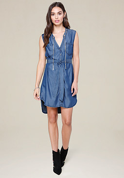 bebe Chain Shirtdress
