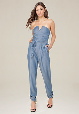 bebe Avery Chambray Jumpsuit