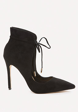 bebe Sloane Ankle Wrap Pumps