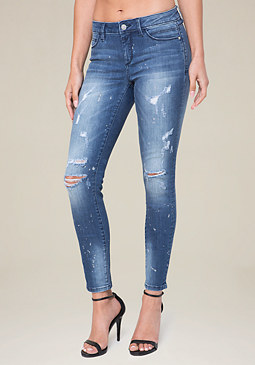 bebe Painter Skinny Jeans