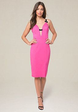 bebe Mandi Bow Front Dress