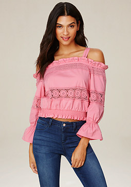 bebe Monica Off Shoulder Top
