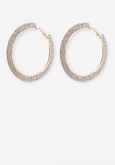 Crystal Mega Hoop Earrings