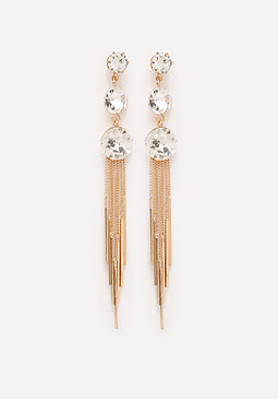 bebe Crystal Droplet Earrings