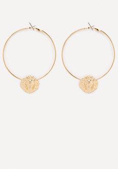 Lion Hoop Earrings