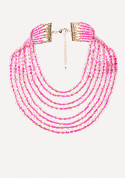bebe Beaded Waterfall Necklace