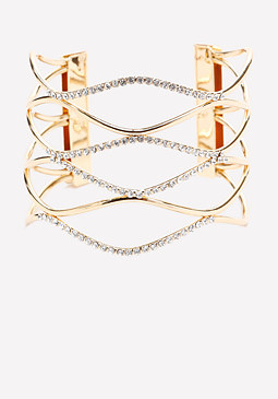 bebe Crystal Loop Cuff