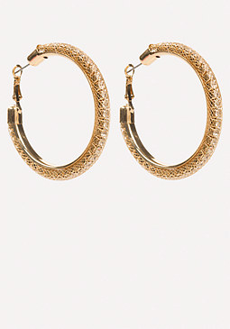 bebe Floating Hoop Earrings