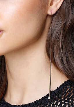 bebe Drops Pull-Through Earrings