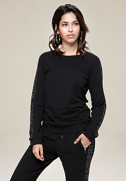 Embellished Pullover at bebe