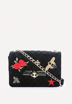 bebe Dalia Embroidered Bag