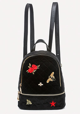 bebe Dalia Embroidered Backpack