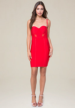 bebe Chrissy Bandage Dress