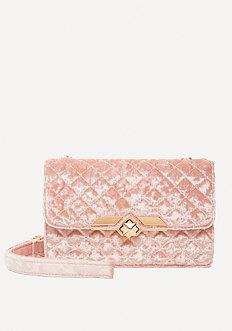 Dahlia Velvet Crossbody Bag