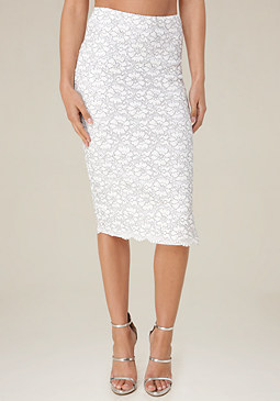 bebe Kate Lace Midi Skirt