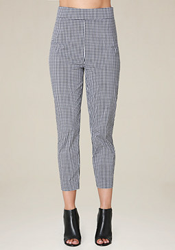 bebe Gingham Crop Pants