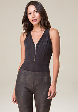 bebe Emily Back Lace Up Bodysuit