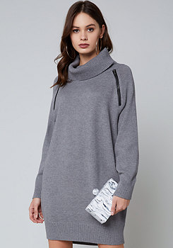 bebe Zip Detail Sweater Dress