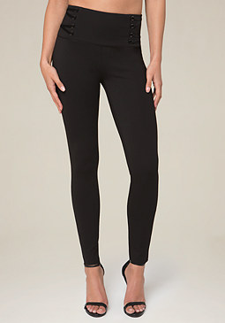 bebe Lace Up Leggings