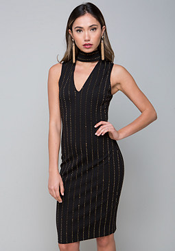 bebe Glam Studded Dress