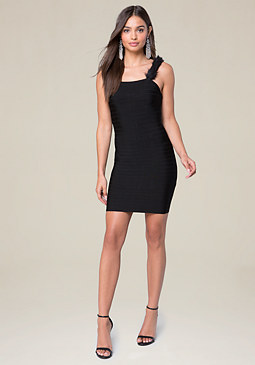 bebe Faux Fur Strap Dress
