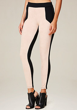bebe Colorblock Leggings