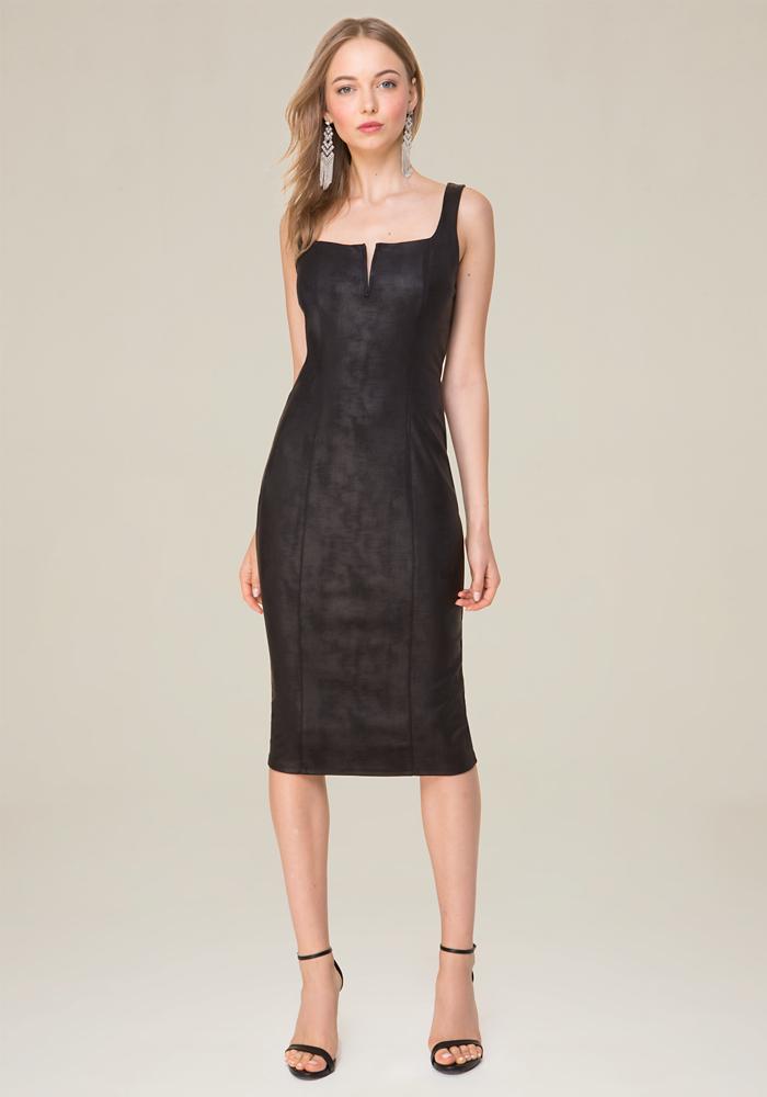 Bebe Black Leather Dress