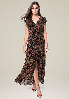 Devore Wrap Maxi Dress
