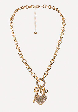 bebe Logo Charm Necklace