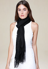 bebe Eyelash Lace Trim Scarf
