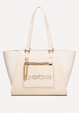 bebe Naomi Perforated Tote
