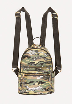 bebe Jane Sequin Camo Backpack