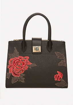 bebe Sofia Embroidered Satchel