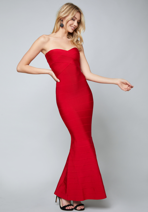 Strapless Bandage Gown at bebe in Sherman Oaks, CA | Tuggl