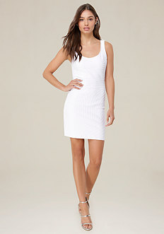 Moire Scoopback Dress