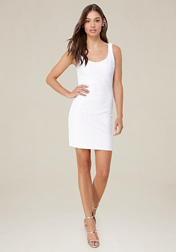 bebe Moire Scoopback Dress