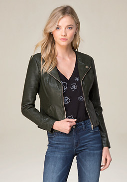 bebe Courtney Moto Jacket