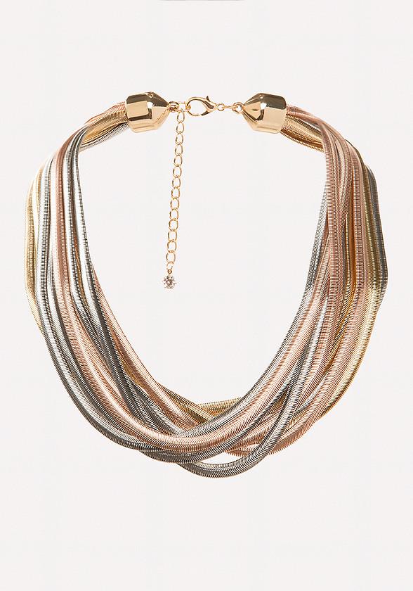Multi-Hue Metal Necklace