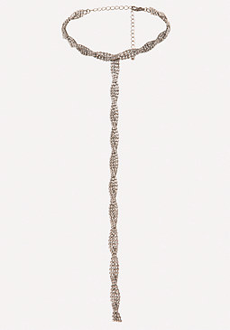 bebe Glam Twisted Lariat Choker