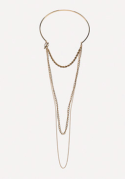 bebe Swag Chain Collar Necklace