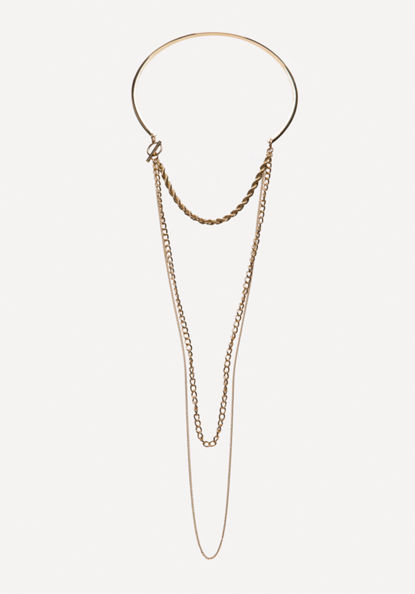 Swag Chain Collar Necklace at bebe in Sherman Oaks, CA | Tuggl