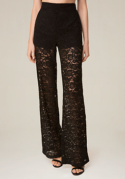 bebe Lace Wide Leg Pants