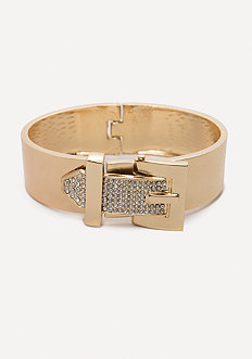 Crystal Buckle Hinge Cuff