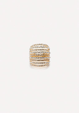 bebe Crystal Multi-Band Ring
