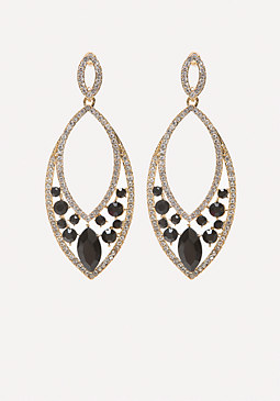 bebe Faux Jet Statement Earrings