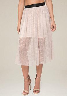 Kenna Dotted Mesh Skirt