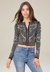 bebe Bianca Studded Jacket